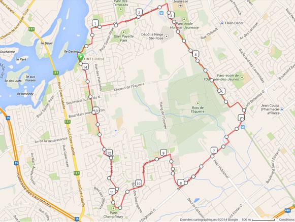 Randonnée 14.5km pour la St-Jean à Laval