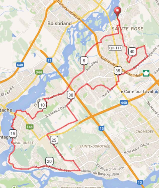 Tour cycliste de la St-Jean 2015 de Laval 45km
