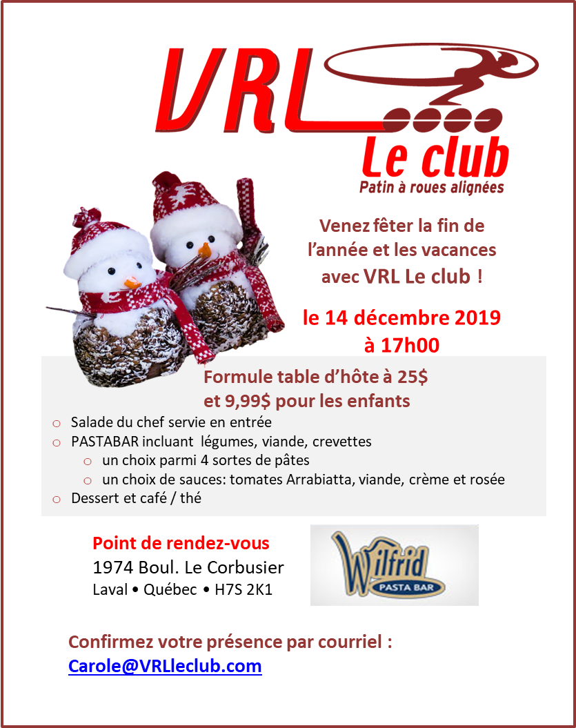 Souper de Noël 2019 Vweb